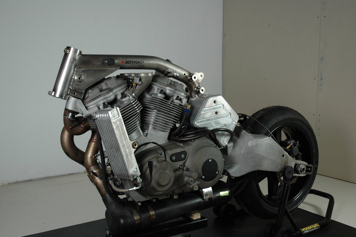 Buell XBRR engine with Bottpower frame