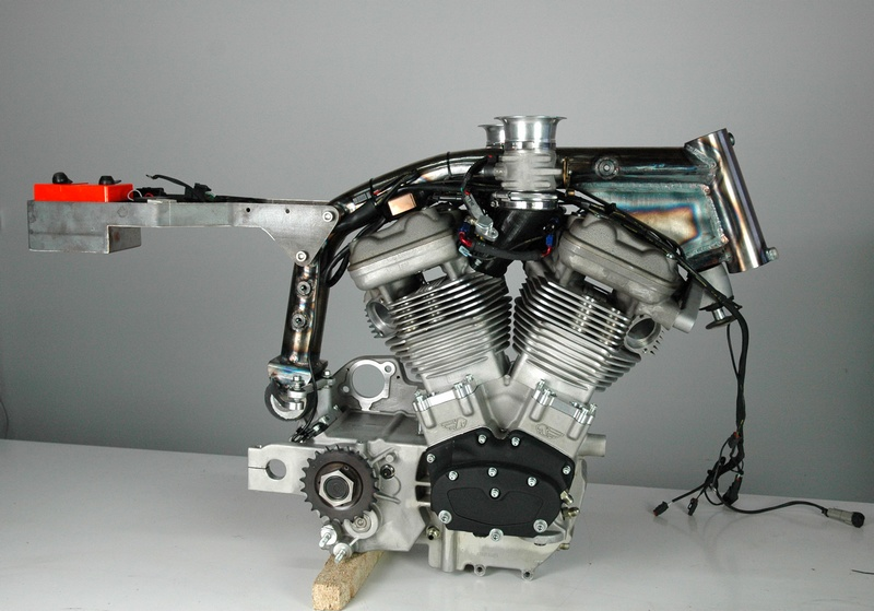 Testing the wiring loom for the Buell XBRR engine.